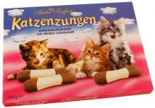 Kočičí jazýčky - mléčná a bílá čokoláda [M.T., 100g]