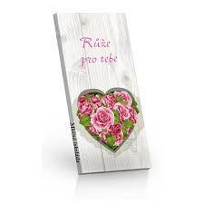 """Mléčná čokoláda """"Růže pro tebe"""" [Selllot,100g]"""
