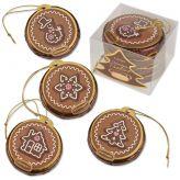 Čokoládové vánoční ozdoby hnědé [Günthart,96g]