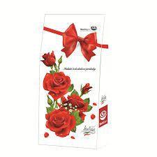 Čokoládové pralinky plněné krémem z lískových oříšků - růže [Born&Syn,94,5g]