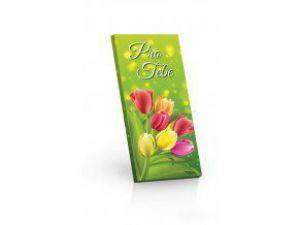 Hořká čokoláda 60% - Pro Tebe (tulipány) [Selllot, 100g]