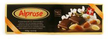 Hořká švýcarská čokoláda (74%) s mandlemi [Alprose,300g]