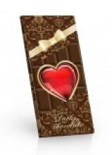Hořká čokoláda srdce s mašlí [Sweet&Snack,100g]