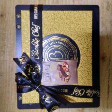 BOLCi dřevěná kazeta s oříšky v čokoládě zlatá [Bolci,160g]