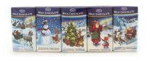 Sada mléčných čokolád - vánoční potisk [Only, 5x15g]