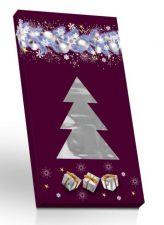 Hořká čokoláda ve vánočním obalu stromeček + hvězdička výřez [Selllot, 50g]