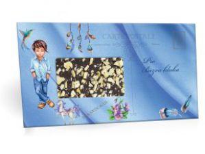 """Mléčná čokoláda s mandlovým posypem """"Pro bezva kluka"""" [Selllot, 96g]"""