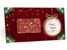 Mléčná čokoláda s jahodovým posypem s vánočním motivem [Selllot, 91,5g]
