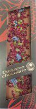 Mléčná čokoláda formovaná s pistáciemi, višněmí a šeříkem [T-Severka, 120g]