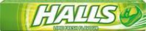 HALLS Fresh lime 33,5g limetkový drops